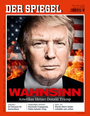 Trump's rise: Cover from DER SPIEGEL