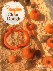 Pumpkin Cloud Dough