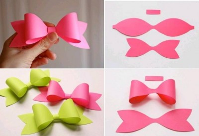 how to make paper craft bow tie step by step diy tutorial instructions how to instructions