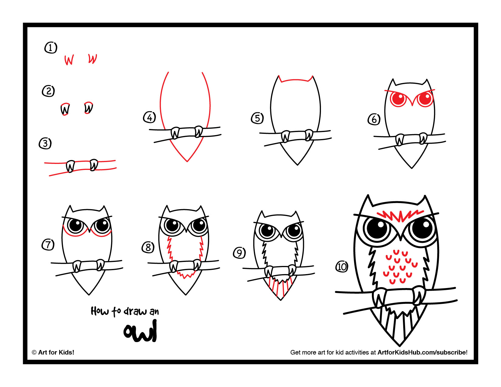 How To Draw An Owl How To Instructions
