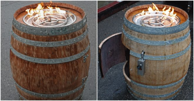 How To Build A Diy Wine Barrel Fire Pit Table How To