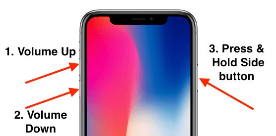 Принудительно перезагрузить iPhone XS Max, когда застрял в режиме восстановления