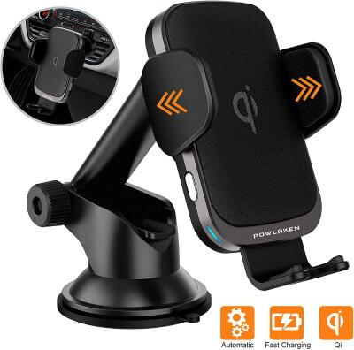 Смарт-автоматическое крепление для телефона с беспроводным зарядным устройством