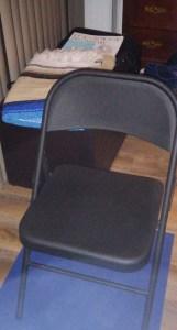 Yoga chair.  For balance.