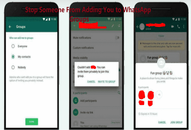Stop Someone From Adding You to WhatsApp Groups