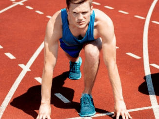 male athlete ready to run the race