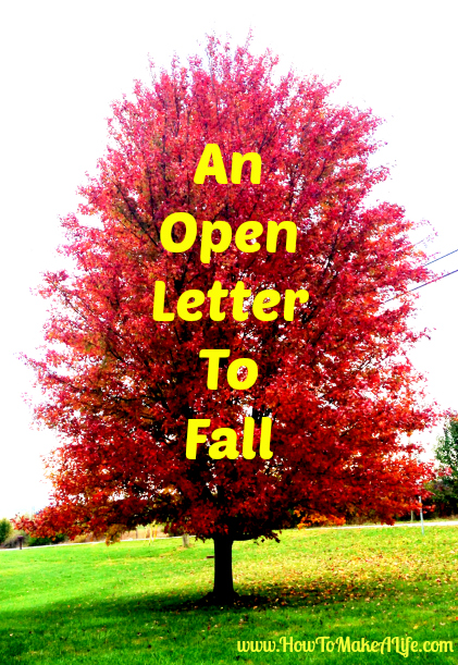 An Open Letter to Fall