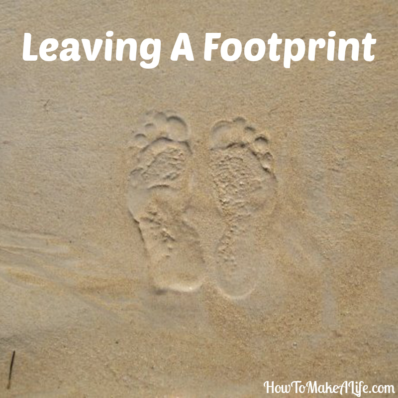 Journal Notes | Leaving a Footprint