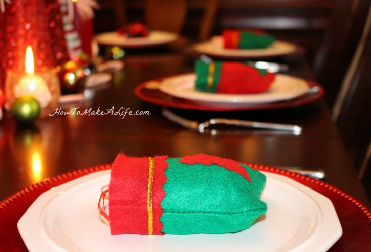 Place setting with stocking
