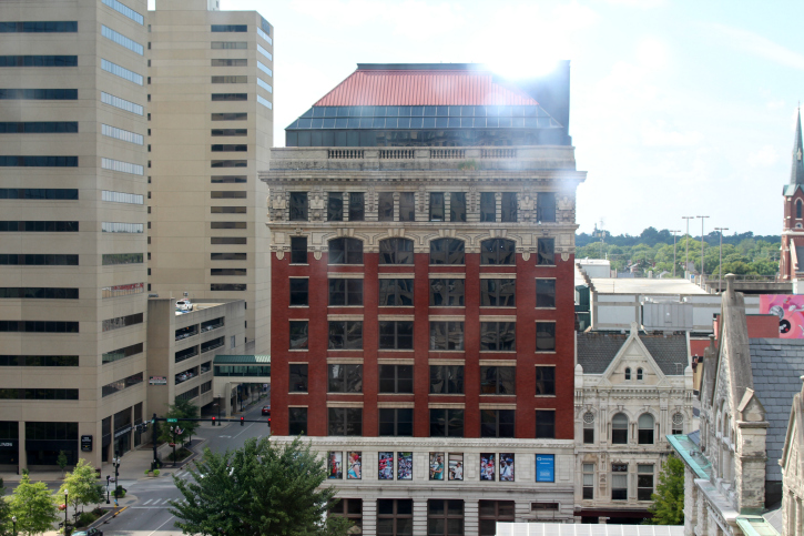 Downtown Lexington KY from 21c Museum Hotel