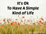 The case for why it is ok to have a simple kind of life