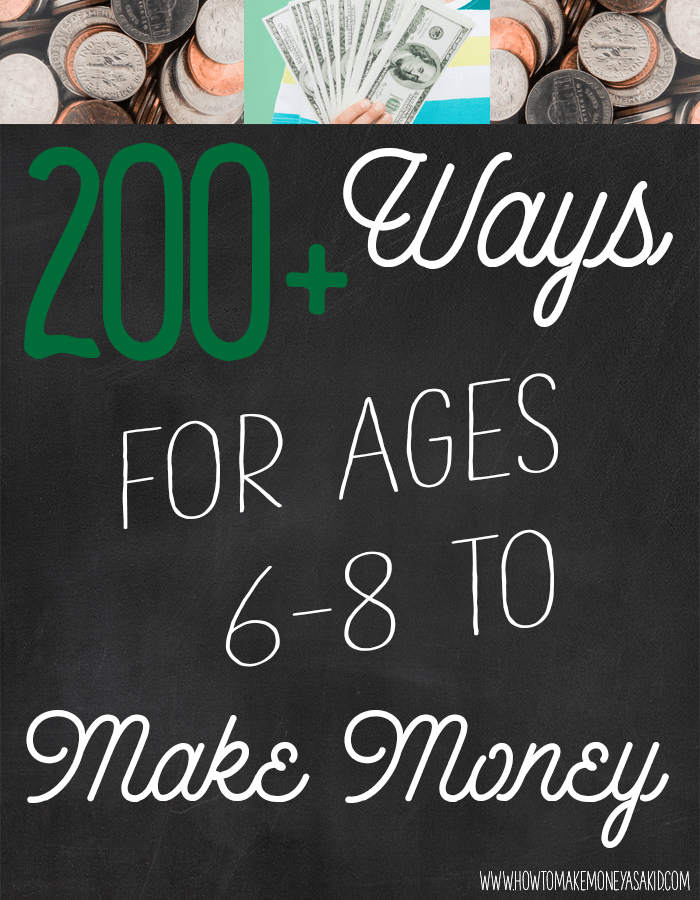 Make money as a 8 year old