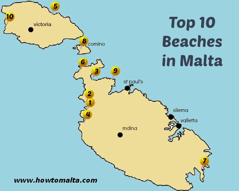 Top 10 Best Beaches in Malta