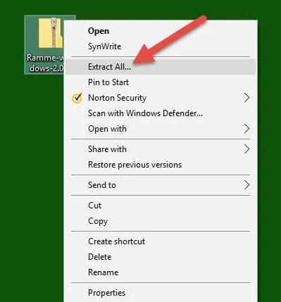 Extract_zip_file_on_windows_PC