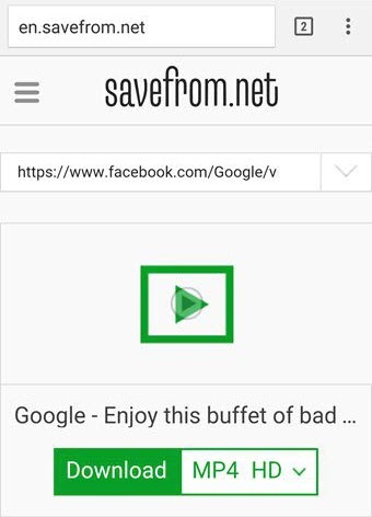 Download_Facebook_Videos_using_Savefrom_net