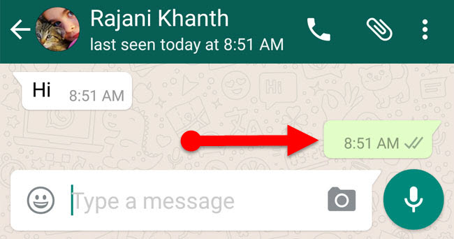 blank message in whatsapp