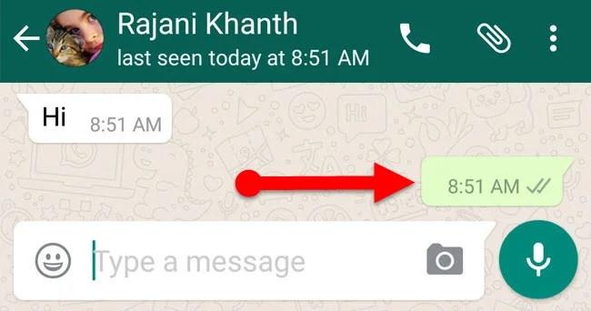 blank message in whatsapp