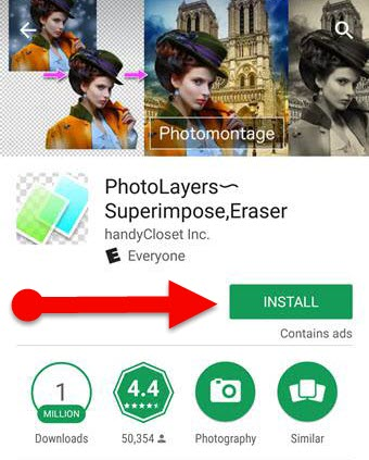 PhotoLayers Superimpose app for Android 1