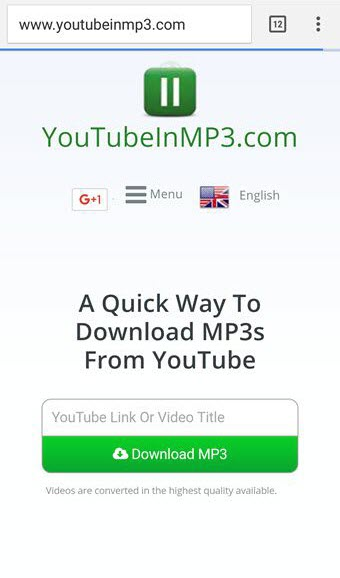 Youtubeinmp3 online ringtone maker website