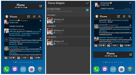 best twitter feed widget for Android