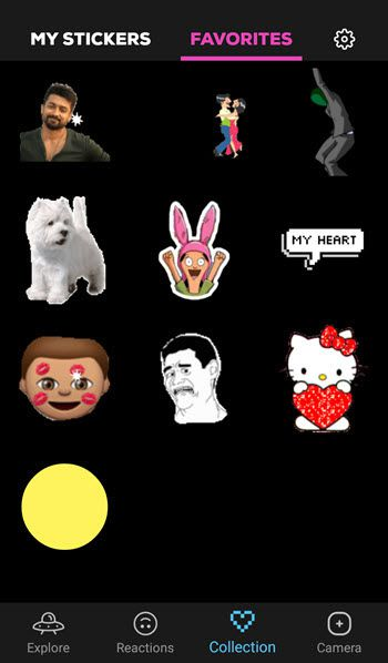 GIPHY animated Sticker app