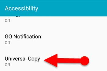 enable accessibility settings on Android