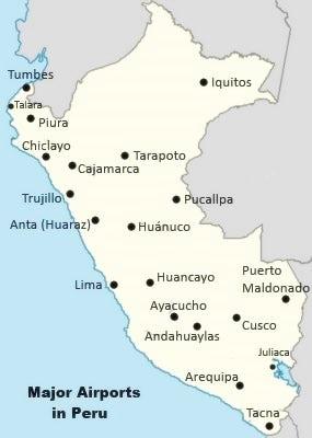 peru airports map smooth   How to Peru