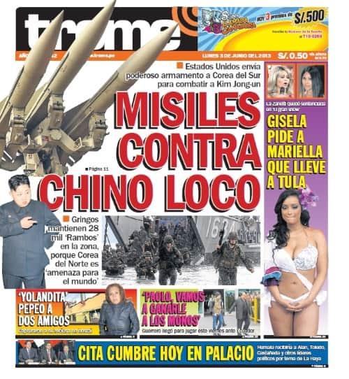 Prensa Chicha Trome Newspaper Peru How To Peru