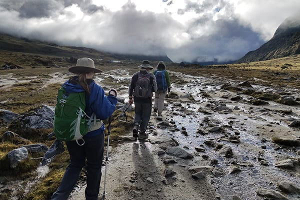 flooded trek peru