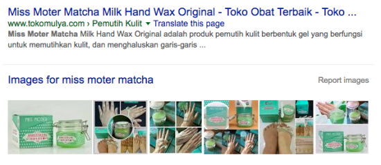 miss moter matcha google results