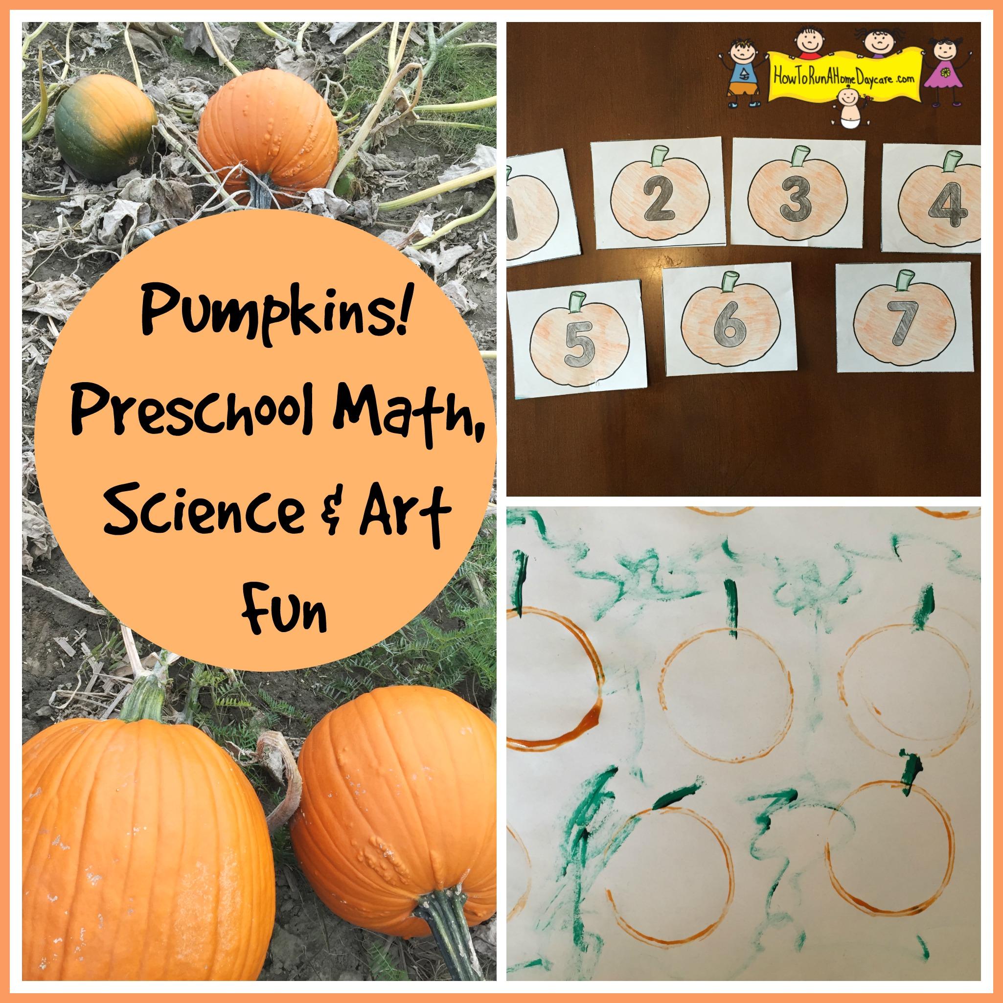 Pumpkins Preschool Math Science And Art Fun