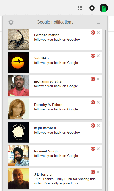 I got G+ Followers