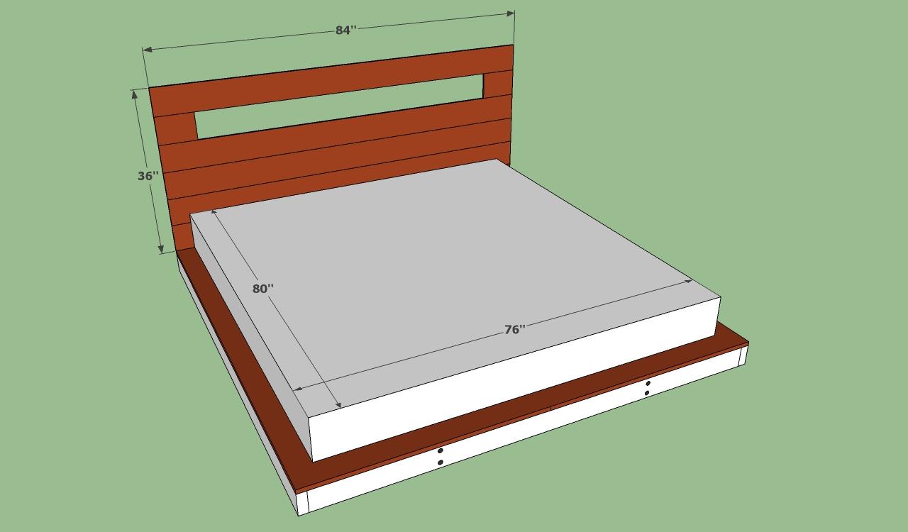 diy king size bed frame plans