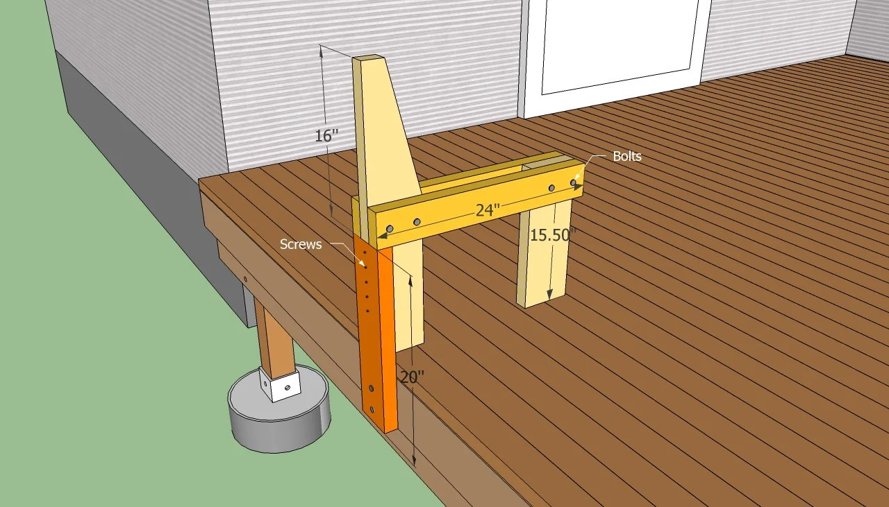 Deck Bench Plans Free Howtospecialist How To Build Step By Step Diy Plans