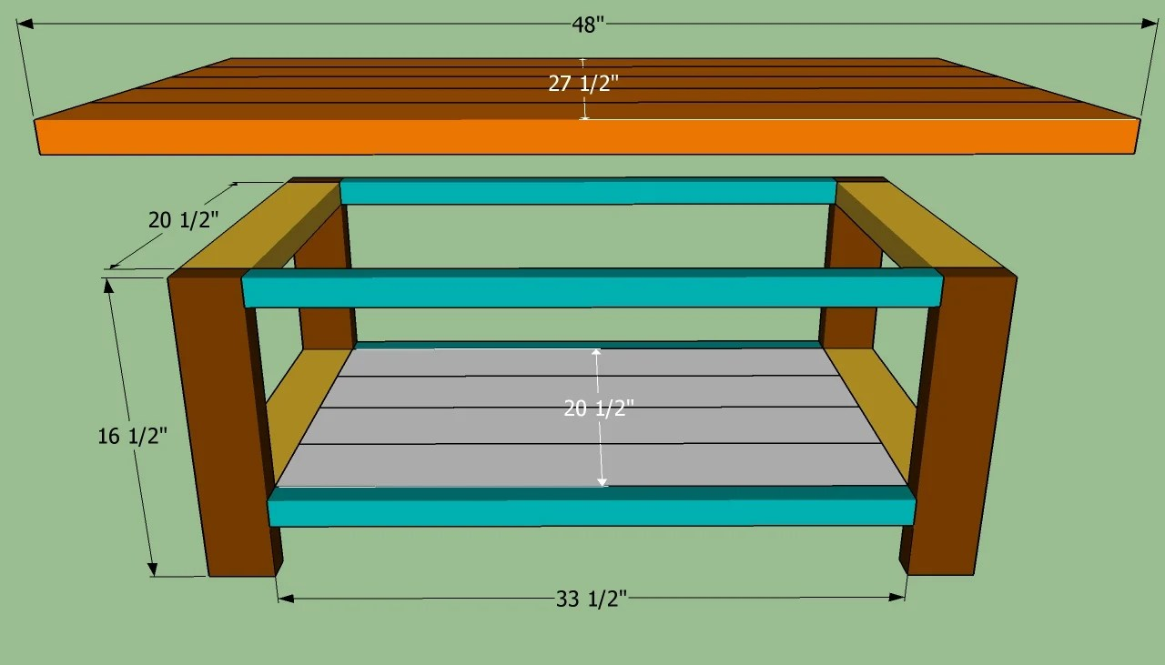 build simple coffee table