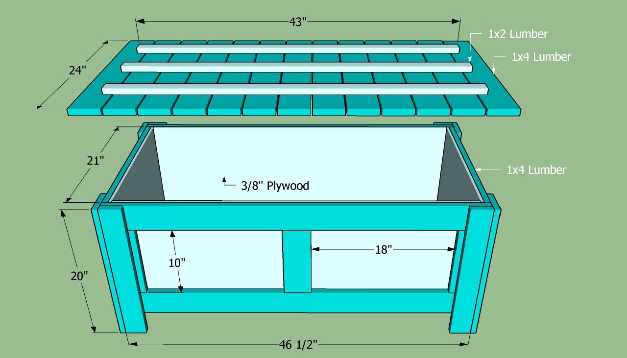 building plans storage bench