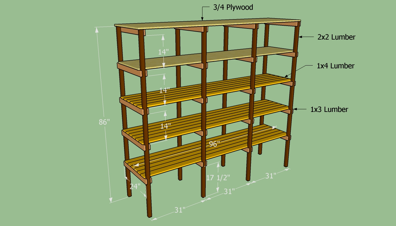 wood shelf building plans