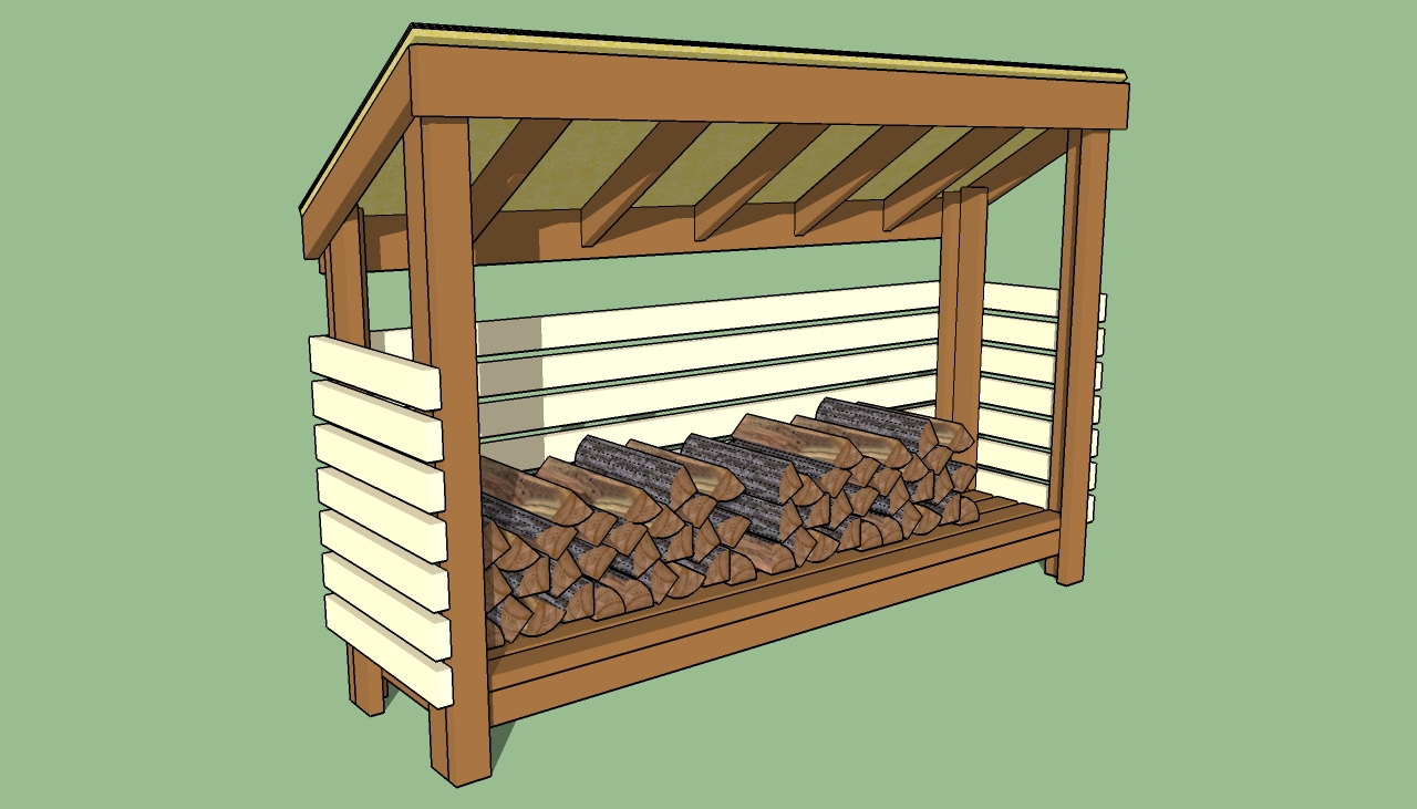 how to make a small woodshed