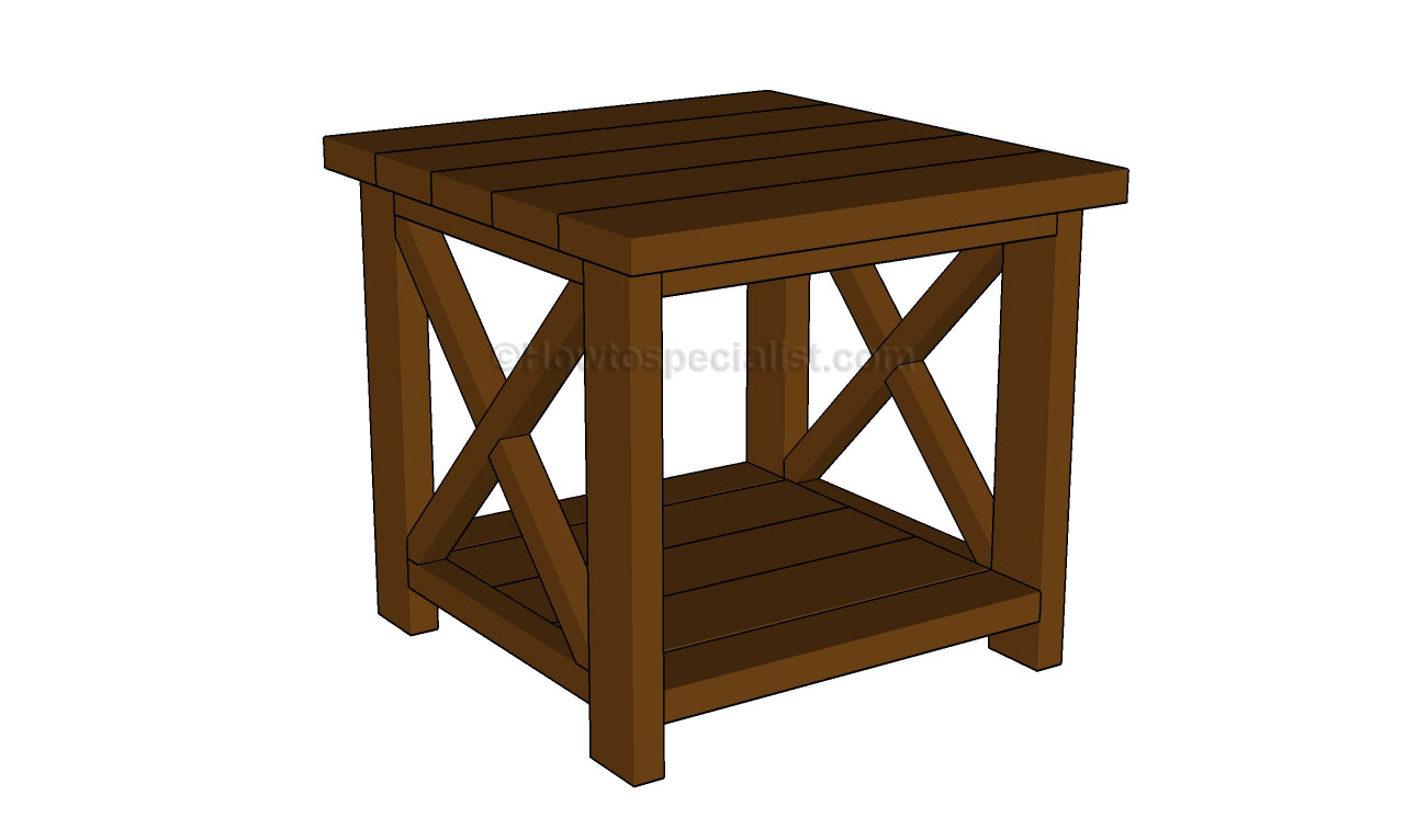 How To Build How To Build Wood End Tables Plans