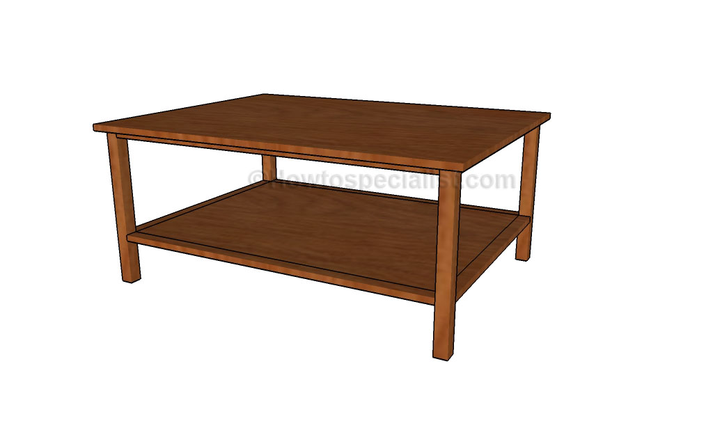 Diy coffee table plans | HowToSpecialist - How to Build ... on Coffee Table Plans  id=53999
