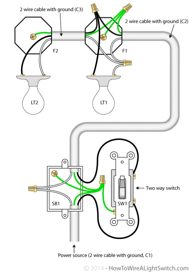 2 way switch  how to wire a light switchhow to wire a light