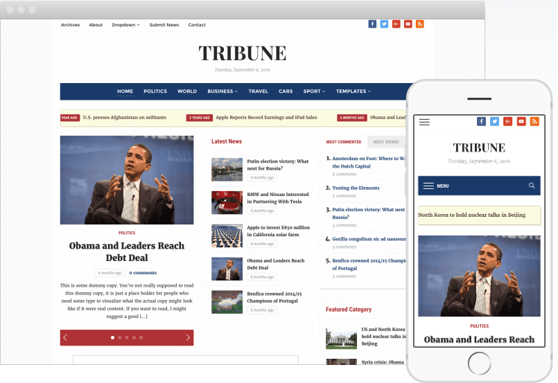 Tribune 4.0 News Portal & Magazine WordPress Theme_Newspaper WordPress Themes