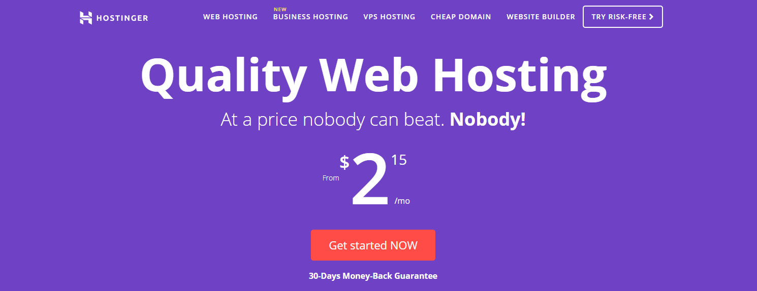 Hostinger Best Cheap WordPress Hosting Services for Small Sites