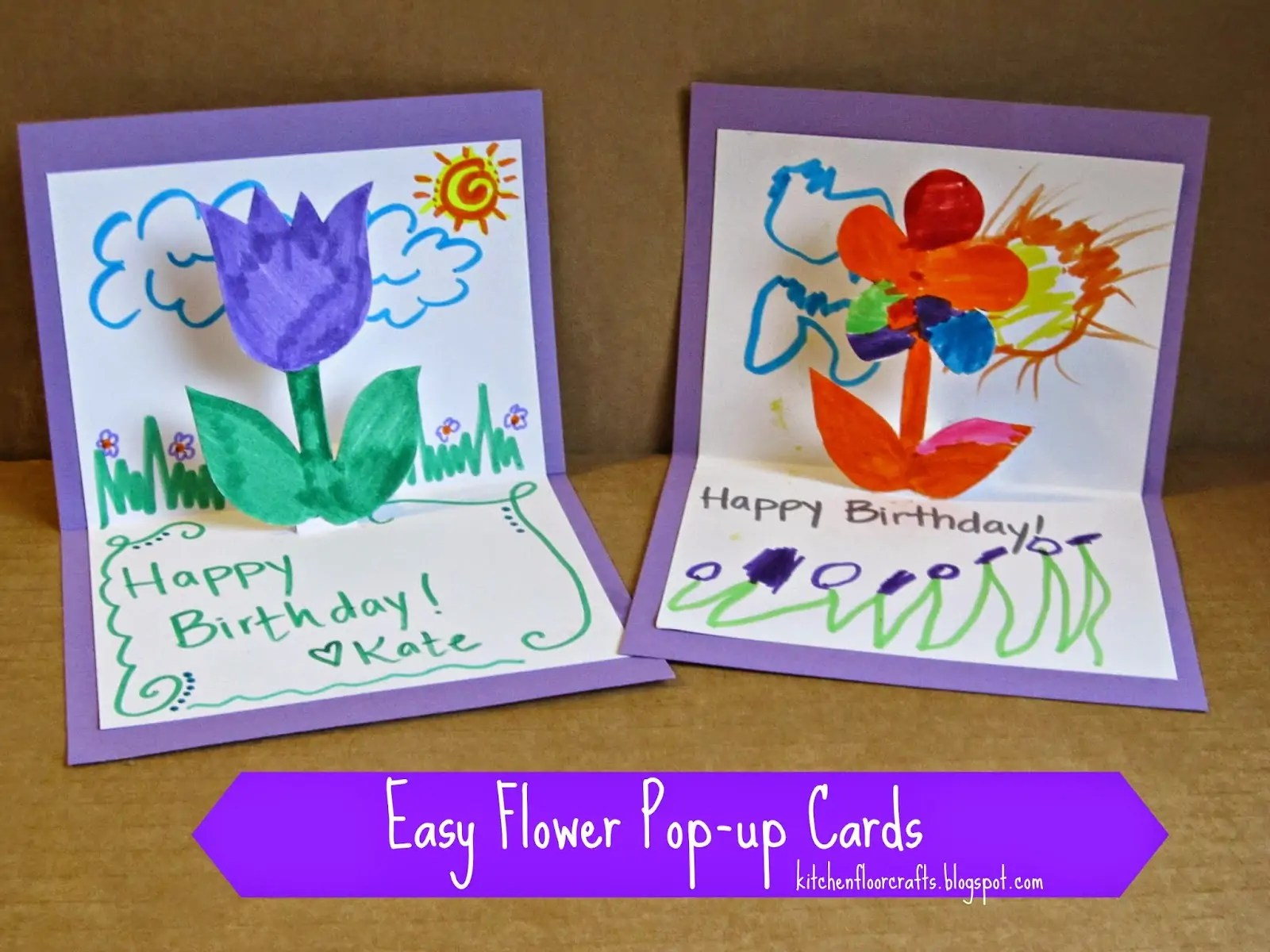 Homemade Birthday Cards For Kids To Create