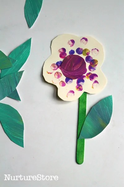 Spring Crafts for 2 Year Olds   How Wee Learn Spring crafts for toddlers   fingerprint flowers
