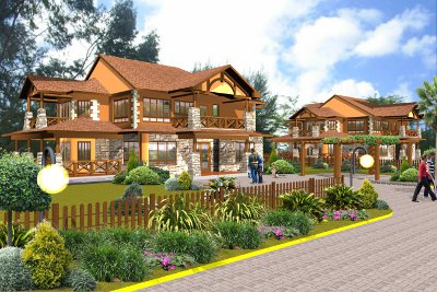 An artist's impression of the luxury homes to be built on the Thika Greens Golf Estate
