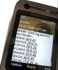 Ghana-based service Esoko sends farmers crop prices and supplies directly to their phones.