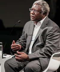 Calestous Juma speaking at last week's World Economic Forum on Africa, held in Cape Town.