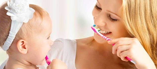 Baby Oral Care Brushing Teeth and Gums
