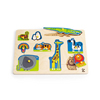 Wild Animals Toddler Wooden Peg Puzzle